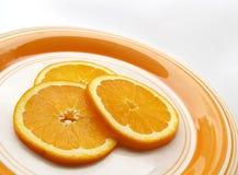 Rebanadas anaranjadas fotografía de archivo