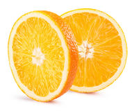 Rebanadas anaranjadas aisladas en el fondo blanco Foto de archivo