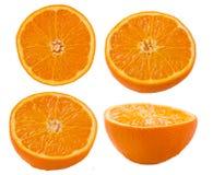 Rebanadas anaranjadas en el fondo blanco Foto de archivo libre de regalías