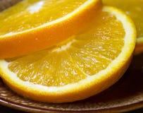Rebanadas anaranjadas frescas Fotos de archivo