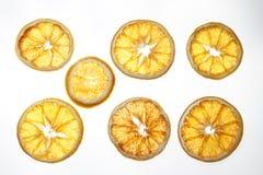 Rebanadas anaranjadas secadas Fotografía de archivo