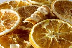 Rebanadas anaranjadas secadas Imágenes de archivo libres de regalías