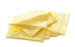 Rebanadas cremosas del queso procesado Foto de archivo