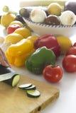Rebanadas de calabacín Imagen de archivo libre de regalías