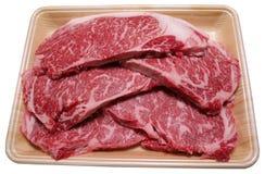 Rebanadas de carne de vaca Imagen de archivo libre de regalías