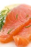 Rebanadas de color salmón Foto de archivo libre de regalías