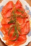 Rebanadas de color salmón Fotografía de archivo libre de regalías