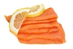 Rebanadas de color salmón Fotos de archivo libres de regalías