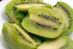 Rebanadas de fruta de kiwi Foto de archivo
