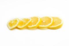 Rebanadas de fruta del limón Fotografía de archivo