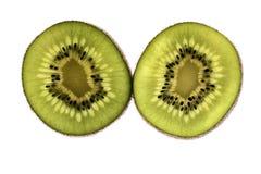 Rebanadas de fruta de kiwi aisladas en el fondo blanco Fotos de archivo libres de regalías