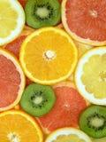 Rebanadas de frutas Imagen de archivo libre de regalías