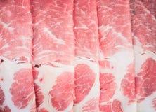 Rebanadas de la carne cruda Foto de archivo libre de regalías