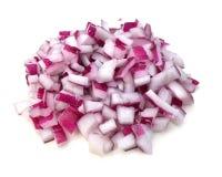 Rebanadas de la cebolla púrpura Imágenes de archivo libres de regalías