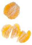 Rebanadas de la clementina Imagen de archivo