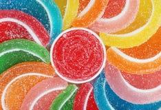 Rebanadas de la fruta del caramelo Imagen de archivo libre de regalías