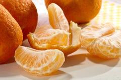 Rebanadas de la mandarina Imagen de archivo