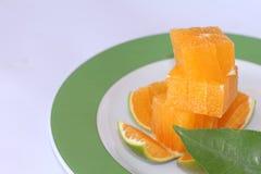 Rebanadas de la mandarina Foto de archivo