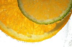 Rebanadas de la naranja y del lemo Fotografía de archivo libre de regalías