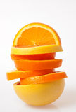 Rebanadas de la naranja y del pomelo imagenes de archivo