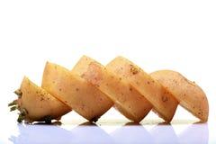 Rebanadas de la patata Imagen de archivo libre de regalías