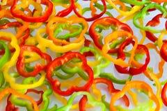 Rebanadas de la pimienta Foto de archivo