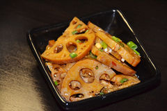 Rebanadas de la raíz de comida-Lotus del chino imagenes de archivo