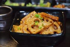 Rebanadas de la raíz de comida-Lotus del chino Imágenes de archivo libres de regalías