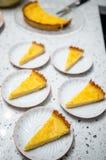 Rebanadas de la tarta de Yuzu Imagen de archivo libre de regalías