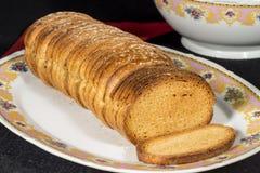 Rebanadas de la tostada Foto de archivo libre de regalías