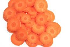Rebanadas de la zanahoria Fotografía de archivo