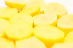 Rebanadas de las patatas Imágenes de archivo libres de regalías