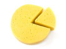 Rebanadas de lika del queso un diagrama del círculo Imagen de archivo libre de regalías
