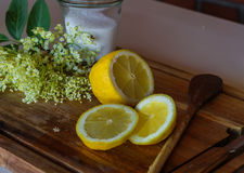 Rebanadas de limón Imagen de archivo