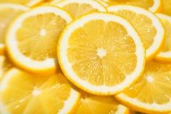 Rebanadas de los limones Imagen de archivo libre de regalías