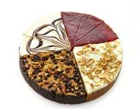 Rebanadas de los pasteles de queso imagenes de archivo