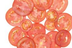 Rebanadas de los tomates Imagenes de archivo