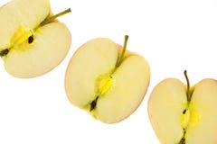 Rebanadas de manzanas Fotografía de archivo