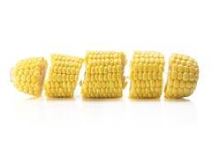 Rebanadas de mazorca de maíz Fotos de archivo