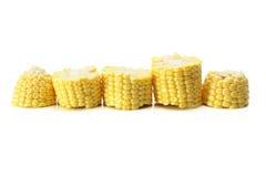 Rebanadas de mazorca de maíz Foto de archivo libre de regalías