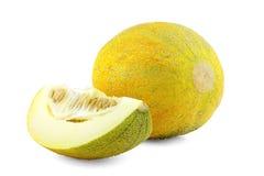 Rebanadas de melón del cantalupo Imagen de archivo