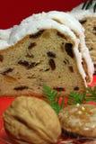 Rebanadas de pan con helar Imágenes de archivo libres de regalías