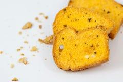 Rebanadas de pan de ajo Imagen de archivo
