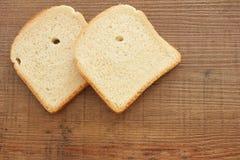 Rebanadas de pan de la tostada Imágenes de archivo libres de regalías