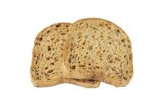 Rebanadas de pan del grano con el molde fotos de archivo libres de regalías