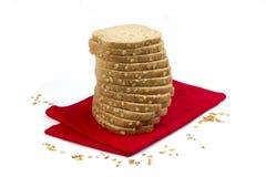 Rebanadas de pan del trigo fotografía de archivo libre de regalías