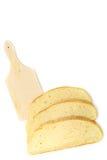 Rebanadas de pan en blanco Imagen de archivo libre de regalías
