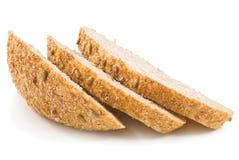 Rebanadas de pan frescas con los gérmenes del girasol Fotografía de archivo