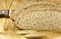 Rebanadas de pan integral Imagen de archivo libre de regalías