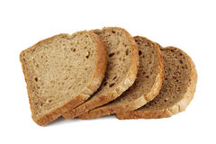 Rebanadas de pan marrón del grano Fotos de archivo libres de regalías